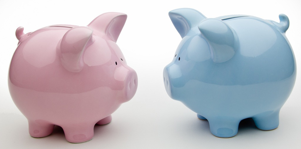 Blue and Pink Piggy Banks by Ken Teegardin (CC BY-SA 2.0)